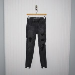 American Eagle | Distressed High Rise Jeggings